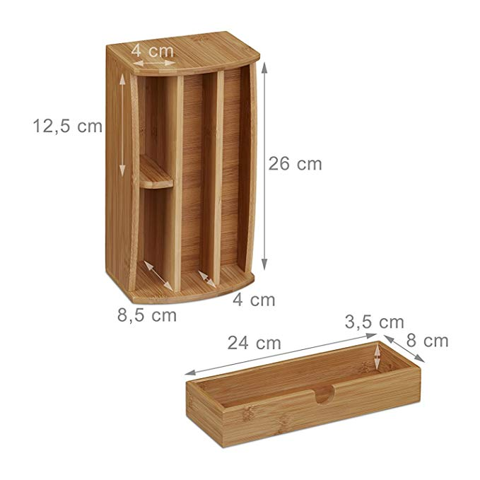 Bamboo Organizer Office Accessories